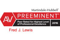 AV Preeminent Fred J Lewis Badge