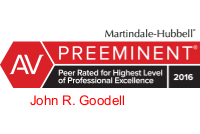 AV Preeminent- John R. Goodell Badge