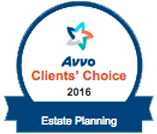 Avvo Client's Choice 2016 - Estate Planning Badge