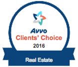 Avvo Client's Choice 2016 Real Estate Badge