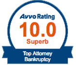 Avvo Rating 10.0 Top Attorney Bankruptcy