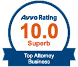 Avvo Rating 10.0 Top Attorney Business