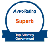 Avvo Rating Superb Top Attorney Govermment Badge